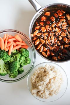 Asian style chicken, veg, and rice- Recipe Righter