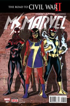 The Next Generation! • As civil war brews, Ms Marvel teams up with Spider-Man and Nova in their biggest challenge yet: a tristate academic competition. • But math isn't the only problem as tremors of