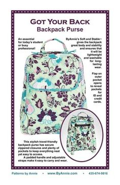 Got Your Back pattern front cover $9.95