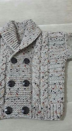 Diy Crafts - -Knit Baby Sweater, Hand Knitted Grey Baby Cardigan, Gray Baby boy Clothes, New Born Baby Gift for Baby Showers, Cable Knit coat Baby Knitting Patterns, Crochet Baby Sweater Pattern, Crochet Baby Sweaters, Knitted Baby Cardigan, Knitting For Kids, Knitting Designs, Baby Patterns, Free Knitting, Knitting Ideas