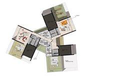 University of Southern Denmark Student Housing Winning Proposal / C.F. Møller Architects,top floor plan