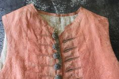 Salmon Pink Damask 17th to early 18th Silk MET Museum by Trouvais