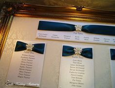 Luxury Table Plan. Wedding Seating Plan. by QuillsWeddingFavours