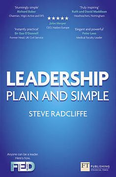 Leadership Plain and Simple by Steve Radcliffe Paperback Book 2012