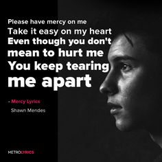 Shawn Mendes Mercy Lyrics and LyricArt Please have mercy on me Take it easy on…
