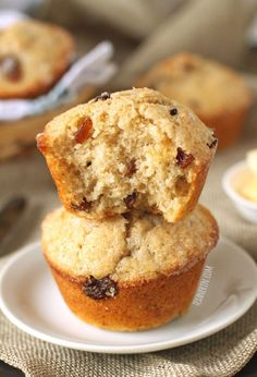 These 100% whole wheat Irish soda bread muffins are quite a bit sweeter, moister and fluffier than your typical soda bread but are perhaps even more delicious! With a dairy-free option.