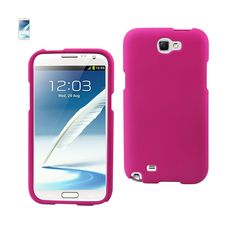 REIKO SAMSUNG GALAXY NOTE 2 TWO PARTS RUBBERIZED SILICONE CASE IN HOT PINK