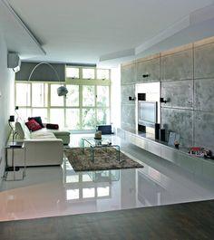 Metaphor Studio - Grid patterned concrete wall    Home & Decor Singapore
