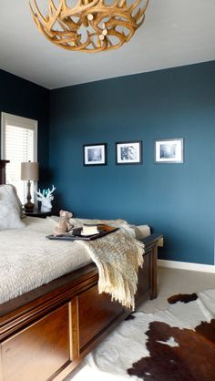 Rustic Master Bedroom wall color... but would it work in my living room?
