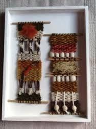 Resultado de imagen para telares decorativos de arboles Weaving Loom Diy, Weaving Art, Tapestry Weaving, Art Textile, Textile Jewelry, Colchas Quilt, Yarn Crafts, Diy Crafts, Weaving Wall Hanging