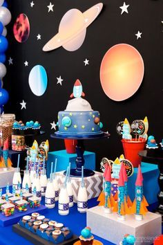 birthday party decorations 425801339765788248 - 15 Children& Party Themes for . - birthday party decorations 425801339765788248 – 15 Children& Party Themes to Escape the Obv - Boy Birthday Parties, Birthday Party Decorations, Birthday Kids, Themed Parties, Baby Boy Birthday Themes, Craft Party, Happy Birthday, Astronaut Party, Outer Space Party