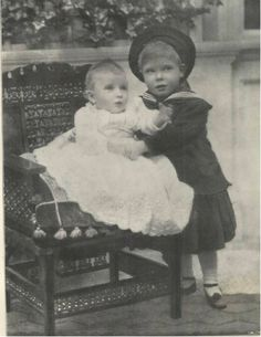King Edward VIII, when Prince Edward of York, with his sister Princess Mary. Princess Victoria, Princess Mary, Prince And Princess, George Duke, King George, Royal Family Names, Victoria Reign, Queen Victoria, Family World