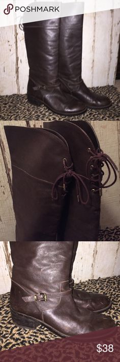 BCBG Tall brown leather boots Excellent condition soft dark brown leather BCBGeneration Shoes Winter & Rain Boots