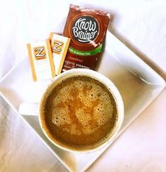 Ketogenic Loaded Coffee:  2 Packets Zsweet Supersweet Packets 1 Packet Know Brainer Hazelnut Keto Creamer 1 packet Vital Proteins Collagen Peptides