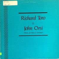 Richard Toro, John Orsi - Music For Bass And Drumset (Vinyl, LP) at Discogs