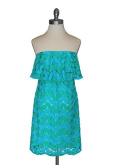 Flutter Top Dress in Aqua: cute for summer