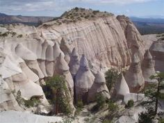 Visiting Kasha-Katuwe Tent Rocks National Monument in New Mexico: View of Tent Rocks from the top of the Canyon Trail