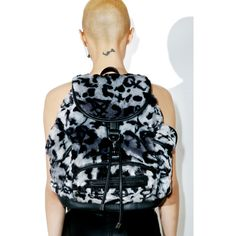 Killstar Sinergy Playdate Fur Backpack (5.075 RUB) ❤ liked on Polyvore featuring bags, backpacks, backpack bags, daypack bag, leopard print bag, leopard bag and rucksack bags