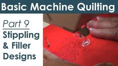 Stippling and Filler Patterns on Your Home Sewing Machine  Free Motion Q...