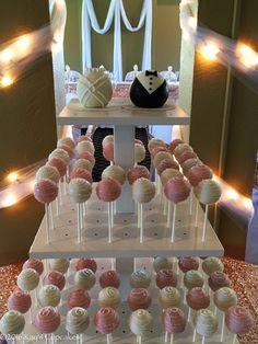 Wedding Cake Pops, Wedding Cakes With Cupcakes, Sweet 15, Rustic Wedding, Our Wedding, Wedding Ideas, Cake Pop Displays, Cake Pop Stands, Diy Cake Pop Stand