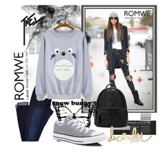 """Romwe contest"" by saragirls ❤ liked on Polyvore featuring Converse and Heidi Swapp"