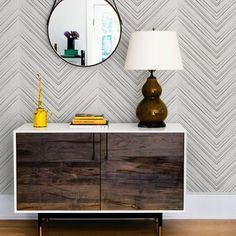 Grey Chevron Lines Wallpaper