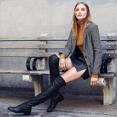 #styletip - For A Cozy Alternative To Tights, Try A Pair Of Over-the-knee #boots. By Shopbop