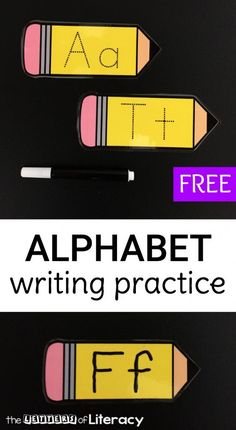 Letter formation is so much fun with these alphabet writing pencils! They are great for preschoolers and kindergarteners who are working on the alphabet. Alphabet Activities Kindergarten, Letter Activities, Kindergarten Literacy, Literacy Centers, Letter Games, Preschool Letters, Literacy Skills, Writing Activities, Classroom Activities