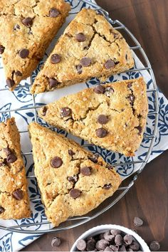 Peanut Butter Chocolate Chip Oatmeal Scones Recipe from A Kitchen Addiction