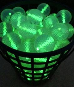 A big basket of Glowing Golf Balls! Night Golf Supplies https   glowproducts 899e69173776