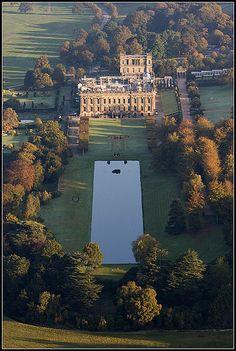 Chatsworth House, Derbyshire, England, UK. A wonderful example of a beautiful English country estate.