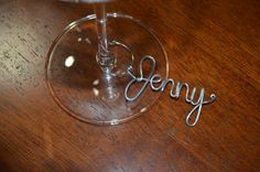 SET OF 4 Personalized Name Wine Glass CHARMS, Unique Gift, Wine Gift, Birthday Gift, Wedding Bridal Shower Favor, Party Favor
