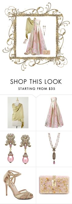 """""""Creme de la Creme (1083)"""" by trufflelover ❤ liked on Polyvore featuring NOVICA, Notte by Marchesa, Dolce&Gabbana and Accessorize"""