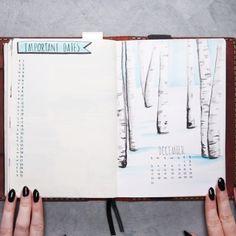 December Bullet Journal // #journal #diary #planner #organization #lifehacks