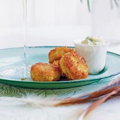 Tarragon mayonnaise compliments this crisp crabcake recipe beautifully. It makes a simple yet sophisticated starter.