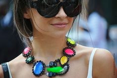 Miroslava Dumas wearing another great necklace