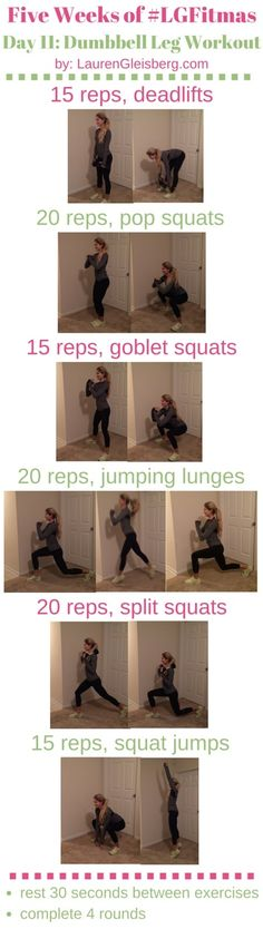 WORKOUT WITH ME WEDNESDAY: Legs (#LGFitmas Day 11) - 12/3