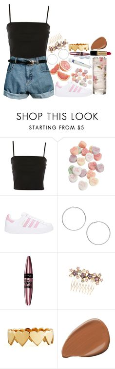 """half of my heart is in havana"" by kokobutah ❤ liked on Polyvore featuring Topshop, Retrò, adidas, Miss Selfridge, Maybelline and Jennifer Zeuner"