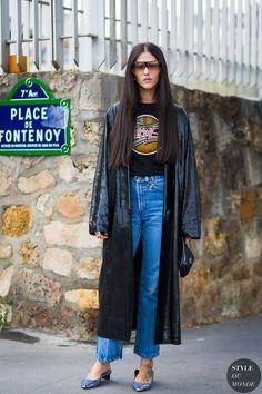 Paris SS 2017 Street Style: Gilda Ambrosio