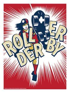 Roller Derby Kicking Butt by eljefedesign #rollerderby #derbygirl #skate #skating #kickbutt #eljefedesign