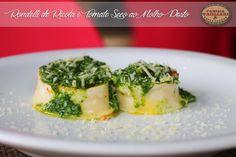 Rondeli de Ricota e Tomate Seco ao Molho Pesto de Rúcula  www.familiatagliari.com.br www.facebook.com/familiatagliari