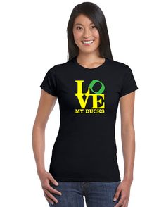 Oregon Ducks Love My Ducks Woman SALE by 503made on Etsy