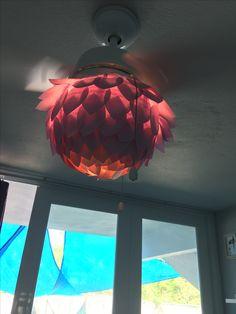 Paper cover for fan light