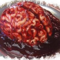 halloween party appetizers for adults | Halloween -panna Cotta - For A Gross Gelatin Brain Mold Recipe