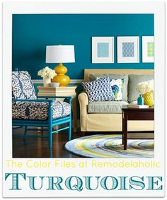 Looking for the perfect shade of turquoise for your next project? A collection of turquoise paint colors and real world examples at Remodelaholic.