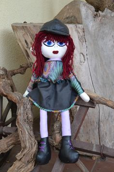 Handmade Dolls, Fabric Dolls, Art Girl, Advertising, Facebook, Toys, Fictional Characters, Activity Toys, Rag Dolls