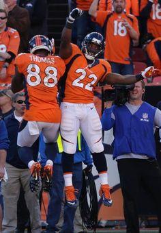 Demaryius Thomas and C.J. Anderson. AFC Champion Denver Broncos!