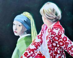 "Saatchi Art Artist Eckhard Besuden; Painting, ""Three studies of Zwei Freundinnen II"" #art"