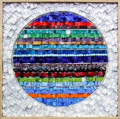 Student Work — Institute of Mosaic Art I love the contrast white-colour / round-straight line