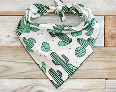 Cactus Dog Bandana, Green Cactus Dog Bandana, Cactus Bandana, Tie On Bandana Puppy Bandana, Cute Dog Collars, Bandana Design, Green Cactus, Girl And Dog, Dog Accessories, Bandanas, Dog Mom, Fur Babies
